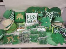 44 Piece St Patrick's Day Party Decorations Lot Pillows Hats Banners Lights