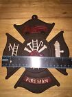 Fire Chief Plaque Sign Vintage Style Solid Metal Cast Iron Plaque Firefighter Vg