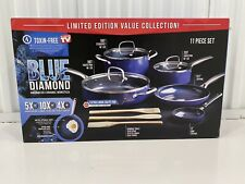 Blue Diamond Limited Edition Nonstick Ceramic 11-Piece Cookware Set SHIPS 2day!