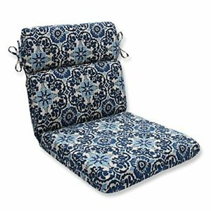 Pillow Perfect Outdoor/Indoor Woodblock Prism Round Corner Chair Cushion 1 Co...