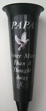 PAPA Memorial Flower Vase White Dove In Loving Memory Grave Spike