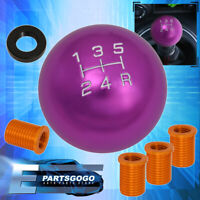 For Toyota 12X1.25mm 5-Speed Ball Shift Shifter Knob Threaded Selector Purple