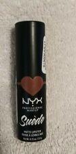 Nyx suede matte lipstick Brunch Me professional makeup.