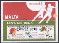 Malta 1986 gestempeld block 9 - WK voetbal Mexico (SG030)