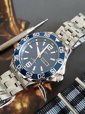 QUALITY DIVE WATCH BY GERMAN BRAND Eichmuller BLUE DIAL + FREE SPECTRE STRAP