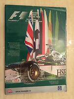 FOSTER'S BRITISH GRAND PRIX 2000 SILVERSTONE FORMULA ONE  F1 Programme