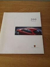 ROVER 200 SERIES 1996 1997 SALES BROCHURE BRAND NEW