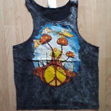 Men Tank top Shirt No Time Brand Magic Mushrooms Psy Cotton 100 Buy Online Now