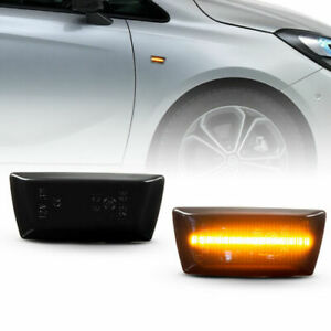 LED Indicators Black For Vauxhall Adam Astra H all Models Astra J GTC