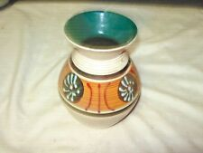 A Vintage Mid Century Modern Hand Decorated Vase marked Austria 638