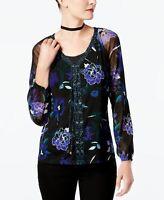 INC International Concepts Petite Floral-Print Lace-Up To Floral Flow PL