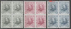 1912 Bulgaria Year set Ferdinand 25 years on the throne Royalty Bl.of 4 MNH **