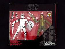 "Star Wars Black Series Poe Dameron & Riot Control Stormtrooper 6"" Action Figures"