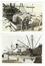 Lot de 17 photos transport du liège en bateau / vieux métiers bateau vers 1940