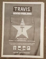 Travis Good Feeling  1997 press advert Full page 30 x 40cm mini poster