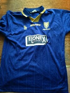 1995/96 Football Shirt Wimbledon The Crazy Gang Lotto Elonex XL