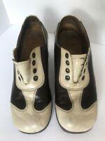 Vintage Men's 70's Platform Two-Tone Brown White Disco Saddle Shoes Size 8