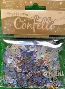 Engagement Party Table Confetti 1, 2, 3 & 5 pack options free p+p