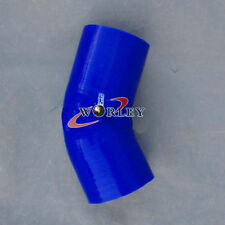"Silicone 45 degree elbow Connector Joiner Turbo Hose Pipe 4""102mm 4 inch blue"