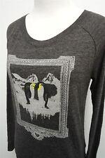 Levi's gray Penguin gray long sleeve knit shirt top blouse sz XS womens L/S#8660