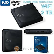 WD 2TB My Passport Wireless Pro Hard disk Esterno Portatile Wireless Wi-Fi USB