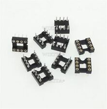 20Pcs Round Hole 8Pin Pitch 2.54MM Socket Adaptor Dip Ic New lc