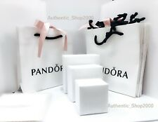 PANDORA Brand White Jewelry Bracelet, Ring, Charm Box Shopping Bag Gift Boxes