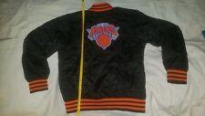 Adidas New York Knicks Nba Youth Jacket Medium 10-12 Black Orange Blue