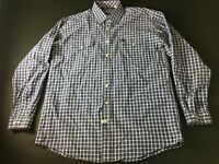 Cinch Mens Purple Plaid Front Pocket Button Front Shirt Size XL