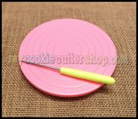 COOKIE / CUPCAKE DECORATING TURNTABLE 14cm Diam WITH FREE ROYAL ICING TOOL