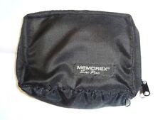 Memorex, bolsa de transporte (diseñada para Portátil Reproductor De Cassette-Cierre de Cremallera) Negro