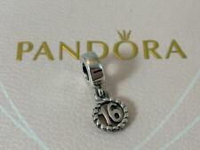 NWOT Pandora Genuine RETIRED Birthday 16 Dangle Charm Sterling Silver 790494