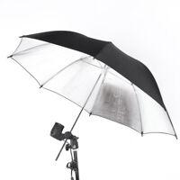 "33"" 83cm Photography Light Photo Studio Video Black Silver Soft Umbrella TA V1N1"