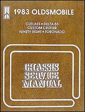 1983 Olds Shop Manual 98 Delta 88 Cutlass Supreme Toronado Oldsmobile OEM Repair