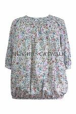 Scoop Neck Semi Fitted Formal Floral Tops & Shirts for Women