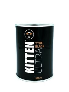 Kitten Ultra TYRE BLACK 500ml for Black Tyres Mats & Mud Flaps
