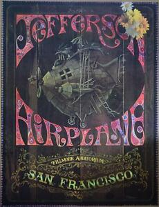 JEFFERSON AIRPLANE 1967 ROCK CONCERT POSTER FILLMORE BOBBY RUSSELL HONEY