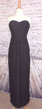 J CREW NATASHA LONG DRESS IN LEAVERS LACE FOR WEDDING  IN BLACK 0 #C5484