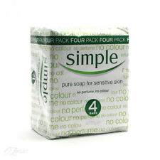 New Simple Pure Soap For Sensative Skin 125g 4 Pack