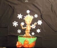MARVEL GROOT GUARDIANS OF THE GALAXY UGLY CHRISTMAS X-MAS T-SHIRT XL X-LARGE NEW