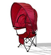 Tuckaway Shade Travel Camping Beach Foldup Portable Sun Shade  Chair – Red