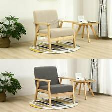 WestWood Retro Single Fabric Armchair Seat Chair Accent Chair Sofa Wood 2085