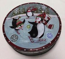 Skating Penguins Tin Music Box - Winter Wonderland