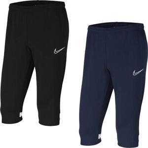 Nike Mens 3/4 Training Pants Dri-Fit Academy Long Shorts Bottoms Trouser Black