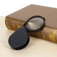 Folding 10X Mini Pocket Jewelry Magnifier Magnifying Eye Glass Loupe Lens In YK