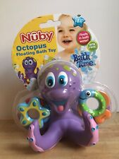 Nuby Bathtime Octopus Floating Bath Toy with 3 Rings to Toss Bpa Free - New