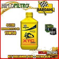KIT TAGLIANDO 4LT OLIO BARDAHL XTC 15W50 HONDA NC700 S 700CC 2012-2014 + FILTRO