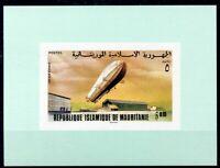 451149) Mauretanien Block mit Nr. 539 B **, Zeppelin