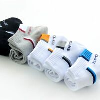 5 Pairs Men Ankle Style Summer Low Cut Crew Casual Sport Cotton Blend Socks  CH