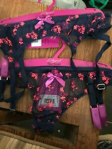 L'Agent Provocateur Clementina Suspenders and Thong size L4, bnwt